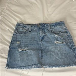 Light wash vintage denim skirt